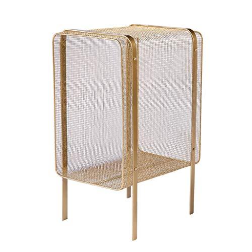 TLMYDD rek van smeedijzer, eenvoudige fotolijst voor kantoor op kantoor of op kantoor, opslagkast, filtregrek, goud, zwart, 35 x 25 x 55 cm bibliotheek