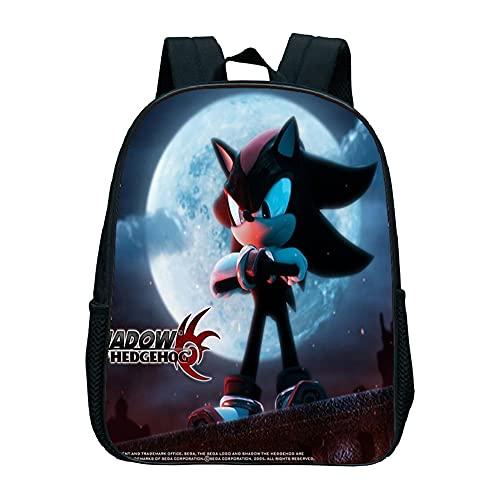Sonic The Hedgehog - Mochila escolar de anime, mochila escolar, mochila para el tiempo libre, mochila ligera a la moda, regalo para niños (Sonic7,13 pulgadas (guardería)