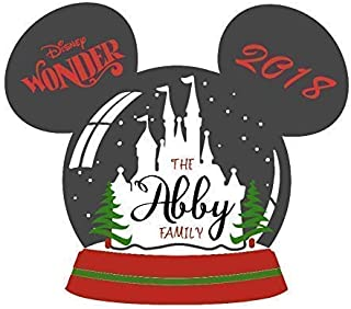 SALE! Christmas Magnet for Disney Cruise || Cruise || SnowGlobe Christmas Magnet || Cruise For The Holidays Door Magnet Decor || Disney Cruise Magnets