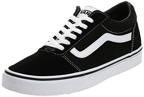 Vans Herren Ward Suede/Canvas Sneaker, Schwarz ((Suede/Canvas- Black/White), 44 EU