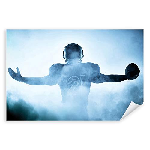 Postereck - 1523 - Football Spieler, NFL Nebel Sport Amerika USA - Wandposter Fotoposter Bilder Wandbild Wandbilder - Poster - 3:2-91,0 cm x 61,0 cm