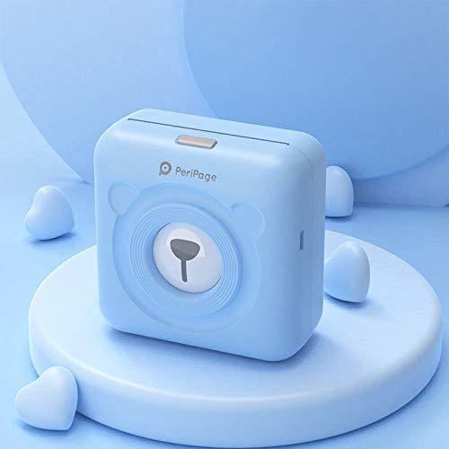 DZSF Bluetooth-Thermodrucker Mini Pocket Photo Protable Mobiler Notizen-Drucker 58 Mm 2 Zoll A6-Fotodrucker für Android Ios Phone,Blau