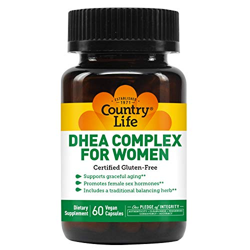 Country Life DHEA Complex for Women - 60 Vegan Capsules - Supports Graceful Aging - Promotes Female Sex Hormones