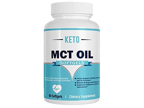 Keto MCT Oil Softgels (60 Softgels) - Keto MCT Oil Capsules - Keto MCT Oil Pills