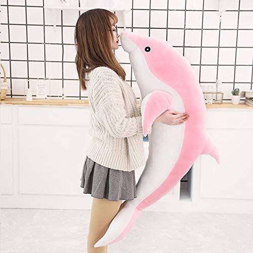 WWWL Juguete suave de 30 cm nuevo tamaño mini kawaii relleno juguetes suaves encantadora felpa suave delfín día de San Valentín regalo de cumpleaños para niñas juguete de peluche rosa