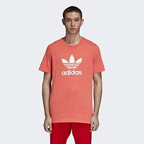 adidas Men Trefoil T-Shirt - Bright Red, Medium