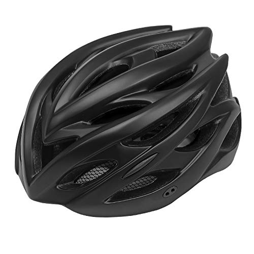 weichuang Casco de bicicleta ultraligero para ciclismo, transpirable, para montaña, carretera, ciclismo, seguridad, deportes al aire libre, casco Kask (color: negro)