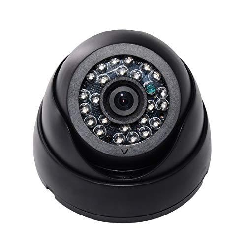 Inicio cámara de vigilancia RetteecWQ-7005 cámara 24 LED Enciende la Concha (Negro) (Color : Black)