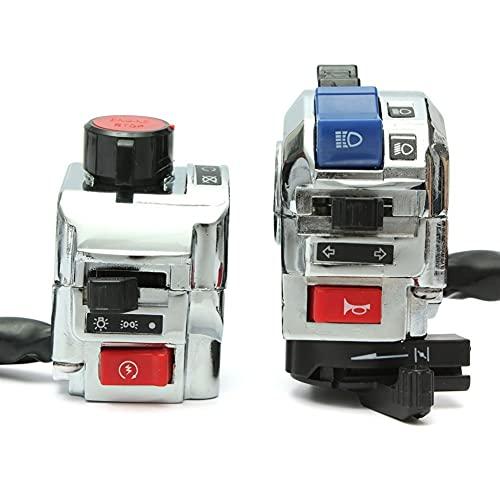 2 unids 22 mm 7/8'Motorilla de control de controlador de controlador de control de motor de inicio de cabeza de giro de giro de encendido Interruptor de cuerno 12V Universal (Color : A)