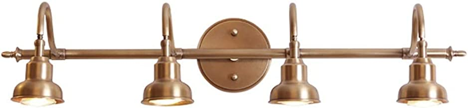 Spiegellampen, LED Spiegel Koplamp Slaapkamer Wandlamp Koperen Badkamer Kast Diepe Spiegel Box Lamp Europese Retro Cosmeti...