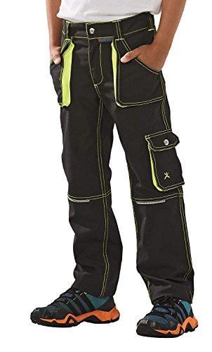 6110 Planam Basalt Junior Bundhose in verschiedenen Farben, Arbeitshose für Kinder (170/176, anthrazit-gelb)