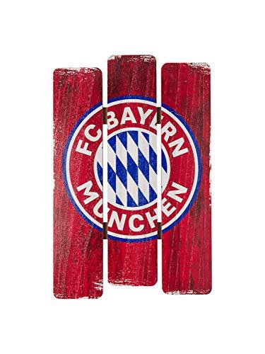 FC Bayern München Holzschild Deko 41 x 28 x 1,5 cm
