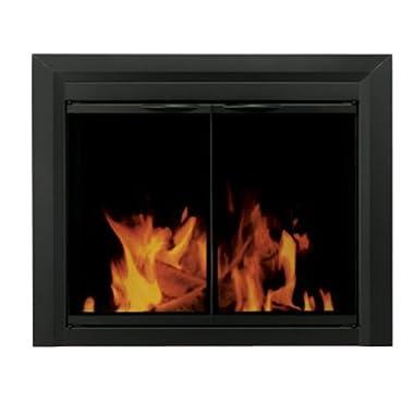 Pleasant Hearth CL-3001 Carlisle Fireplace Glass Door, Black, Medium