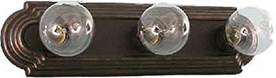HOMEnhancements- 3 Light Racetrack Vanity Light Fixture with Oil Rubbed Bronze Finish #VSR-3-RB