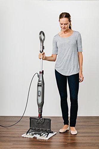 Shark Genius Hard Floor Cleaning System Pocket (S5003D) Steam Mop, Burgundy/Gray