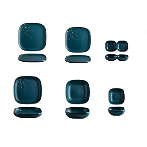 YWSZJ Juego de vajilla de cerámica nórdica, estilo moderno, estilo moderno, de gama alta (8 piezas)