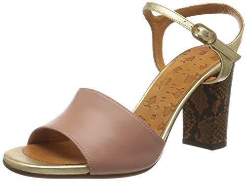 Chie Mihara Damen Ba-parigi36 Knöchelriemchen Sandalen, Pink (Goya Nude Shaddai ORO Mambo Cuero Goya Nude Shaddai ORO Mambo Cuero), 38 EU