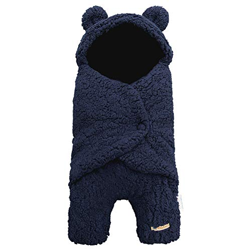 BlueSnail Newborn Receiving Blanket Baby Sleeping Wrap SwaddleNavy