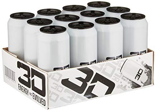 3D Energy 3D ENERGY Trinken 3D Energie 12 x 473 ml Weiß