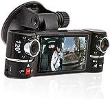 inDigi 2.7' TFT LCD Dual Camera Rotated Lens Car DVR Vehicle Video Recorder Dash Cam
