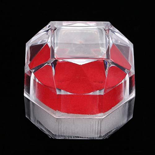 Caja de exhibición de almacenamiento de acrílico Caja de almacenamiento de anillo, Organizador de joyería Caja de almacenamiento de joyería de 10 piezas, Caja de exhibición de anillo para(red)