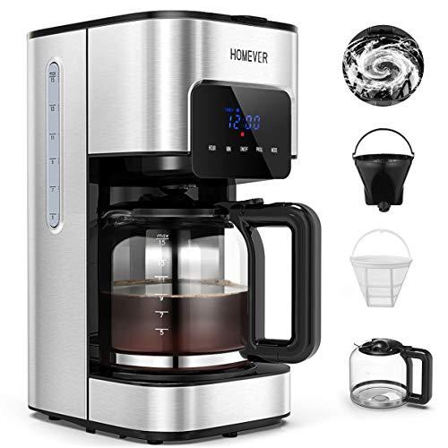 Machine à Café Filtre, HOMEVER 1,5L Cafetiere Filtre, 12 Tas