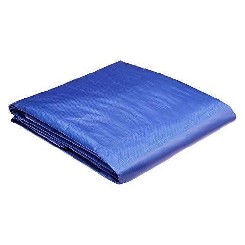 AmazonCommercial Multi Purpose Waterproof Poly Tarp Cover, 14 X 30 FT, 5MIL Thick, Blue, 2-Pack
