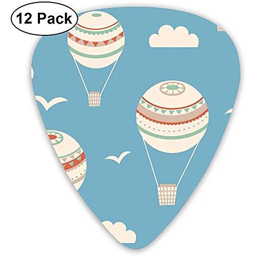 Nahtloses Muster mit Luftballon-Vektor-Illustrations-Plektrum-Klassiker-Auswahl 12 Satz