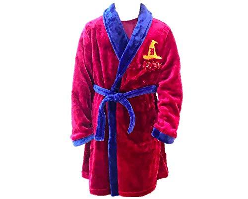 | Harry Potter | Hogwarts Morgenmantel | Warme Robe Aus Weichem Fleece | Jungen Mädchen Unisex Nachtwäsche | Soft Touch Kinder Bademantel | 14 Jahre |