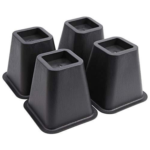 SurePromise Heavy Duty Bed Risers Furniture Risers Plastic Black Elephant...