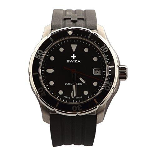 SWIZA Tetis Silikon-Armband Luxus Uhr, schwarz, One Size