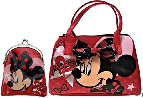 Kinder-Handtasche und Geldbörse Disney Minnie Maus mit Lippenstift