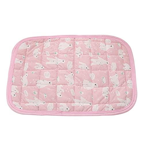 JSJJAUJ Haustierbett Hund Kühlmatte Sommer Pad Matte Katze Pad Haustier Schlafendes Kissenbett Für Hunde Katze Kennel Auto Sitz Licht Sofa Atmungsaktive Pad (Color : Pink, Size : L)