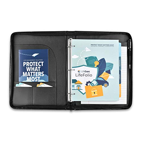LifeExec - LifeFolio, The Most Complete Life Planner for Disaster, Accident, and Legacy | Estate Planner and Life Organizer Book | End of Life Wish List Planner | Planning