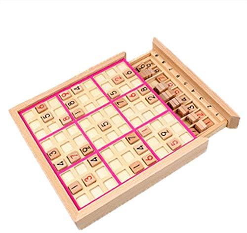 Houten Sudoku Aantal Spel Puzzels Kinderen Volwassen Math Baby Speelgoed Jigsaw Tafelspel Leren Educatief Speelgoed