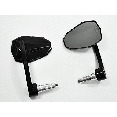 Universal Motorrad Spiegel Lenkerendenspiegel VICTORY EVO schwarz E-gepr. Paar
