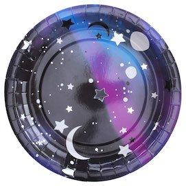 InviteMe Juego de 10 platos de papel galácticos de la serie Galaxy, fiesta espacial