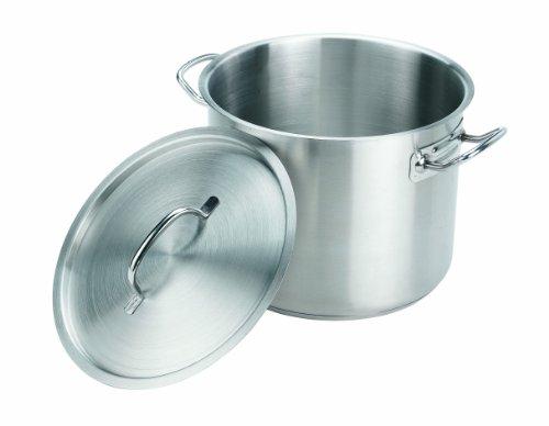 Crestware 20 Quart Stainless Steel Stock Pot, Silver