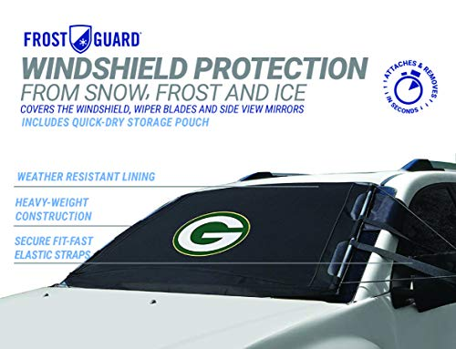 NFL Frost Guard Windshield Cover for Ice and Snow, Green Bay Packers | Standard Size Car Windshield...