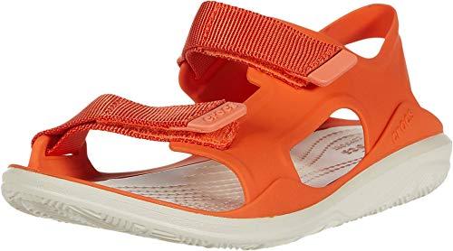 Crocs Women's Heels Open Toe Sandals, Orange Tangerine Stucco 82y, 36/37