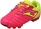 Joma Kids' Toledo JR MD 24 Soccer Shoes, Neon Pink / Neon Yellow / Black, 10 Toddler