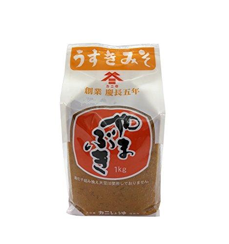 カニしょうゆ カニ印 うすき味噌 やまぶき 麦みそ 1kg