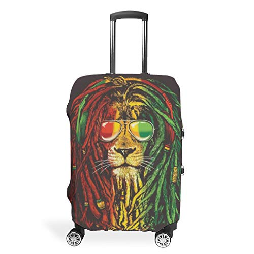 Travel Tiger Lion Animal Luggage Case Cover - Dustproof 4 Sizes fits Protective Luggage Case White 26-28in