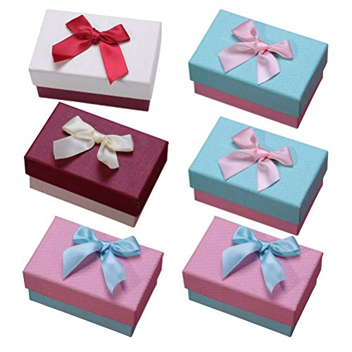 UKCOCO Uhrenbox 6Pcs Creative Package Geschenkbox Geschenkboxen aus Pappe Papier mit Band Bowknot