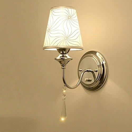 DSJ Moderne eenvoudige Scandinavische slaapkamer nachtkastje kristal wandlamp met schakelaar ronde creatieve verlichting