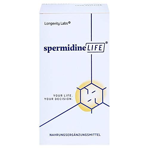 spermidineLIFE® Original 365+: Natürliches Weizenkeimextrakt mit hohem Spermidingehalt und Zink zur körpereigenen Zellerneuerung, 60 Kapseln
