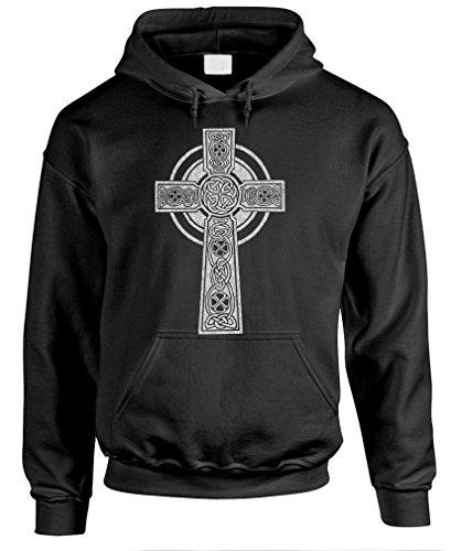 Celtic Cross - Christian god Jesus Christ Pullover Hoodie, XL, Black
