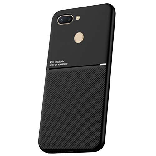 Capa Grandcase Mi 8 Lite, capa ultrafina de silicone macio TPU Fashion Line padrão durável leve absorção de choque capa de proteção para Xiaomi Mi 8 Lite 6,2 polegadas – Preta