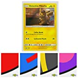 Detective Pikachu Black Star Promo Holo Card - SM190 Foil Rare with Totem World Card Protector Sleeve - Compatible with Pokemon Cards