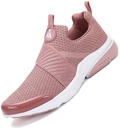 Mishansha Laufschuhe Damen Sportschuhe Dämpfung Turnschuhe Atmungsaktive Fitness Running Sneakers Frauen Walkingschuhe Pink 40 EU